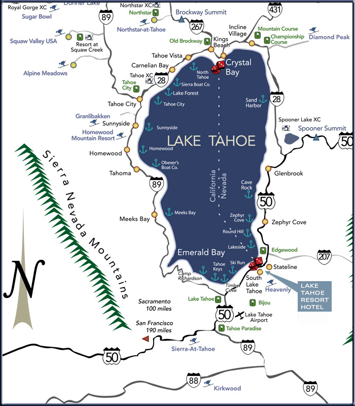 zephyr cove lake tahoe map Directions Lake Tahoe Resort Hotel zephyr cove lake tahoe map