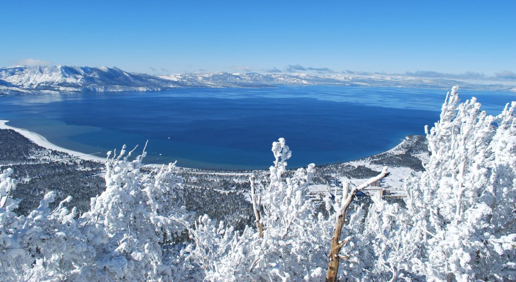 Lake Tahoe sees more than 400 inches of snow a year on average.