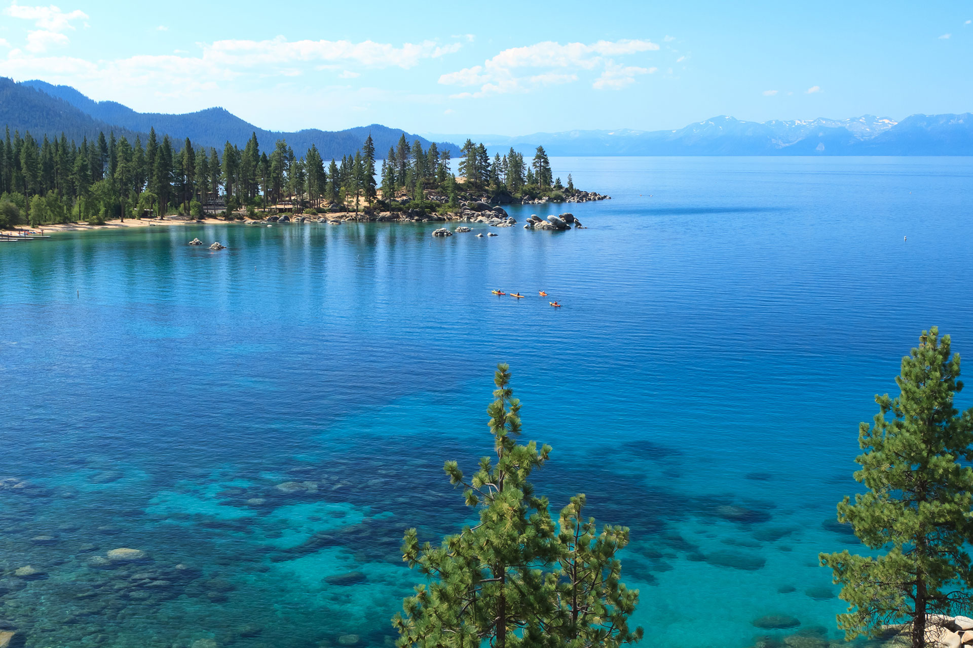 Amazing blue of Lake Tahoe