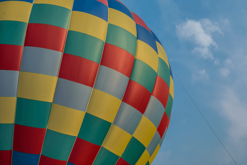 Take a romantic hot air balloon ride in California.