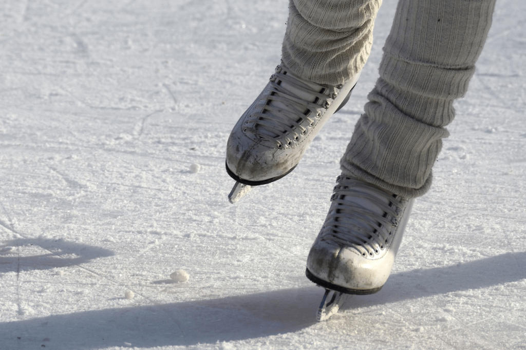 Ice skate at the outdoor rink at Heavenly Village