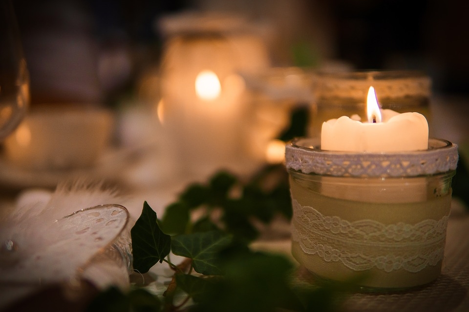 These candles can provide a signature scent to a wedding.