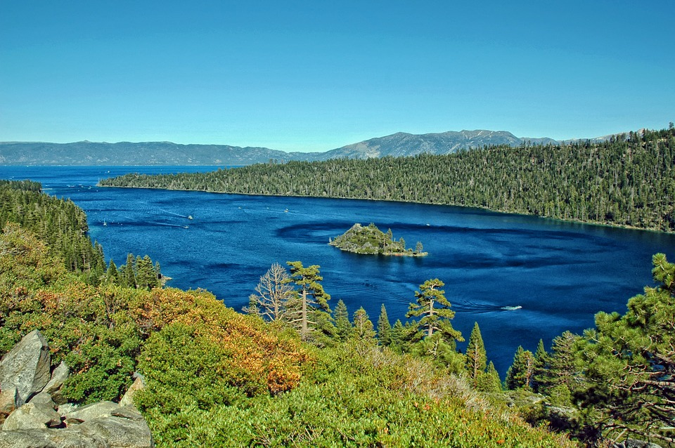 Scenic views of Lake Tahoe in the summer