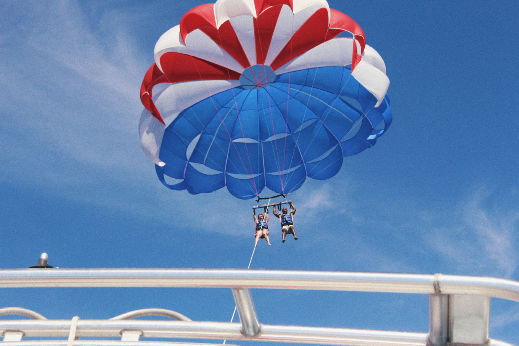 Give parasailing a try in Lake Tahoe