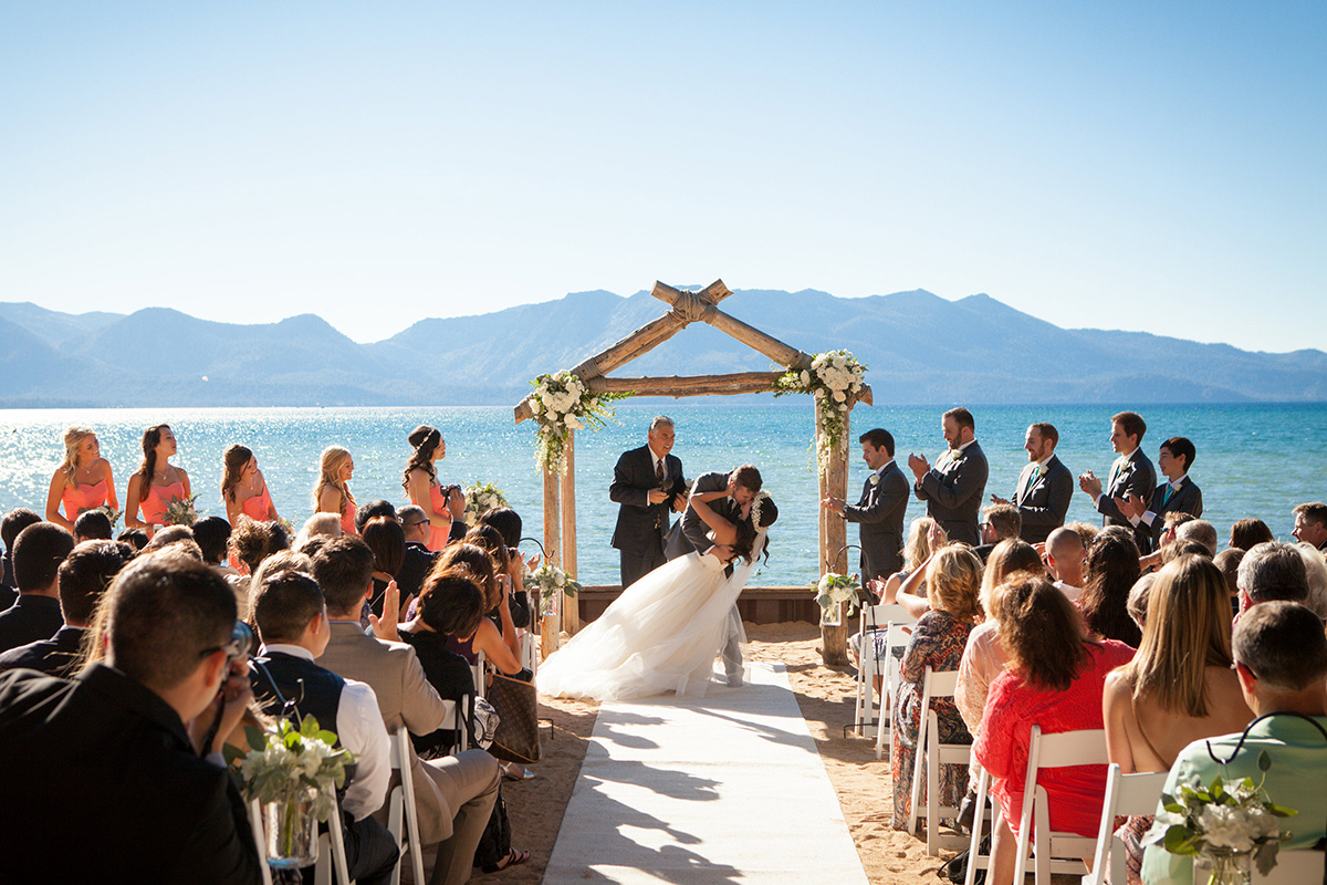 Tahoe Lakeside Beach Wedding