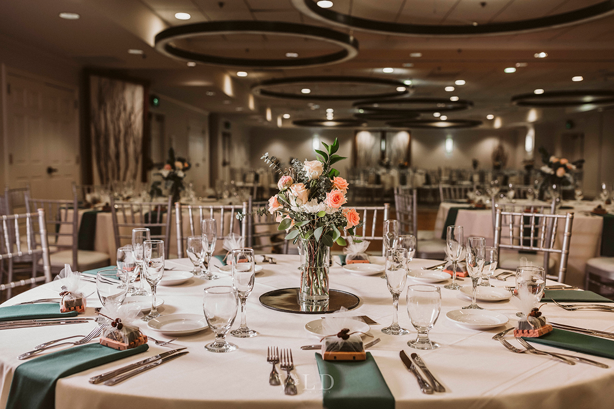 Lake Tahoe Resort Hotel Ballroom Wedding