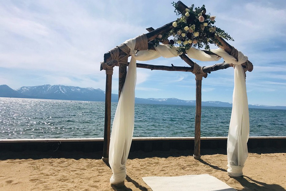 Lake Tahoe Resort Hotel Wedding Reception