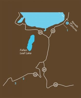 Tahoe Sledding and Tubing Map